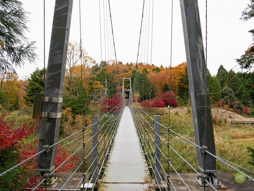 玉桂寺駅の吊橋